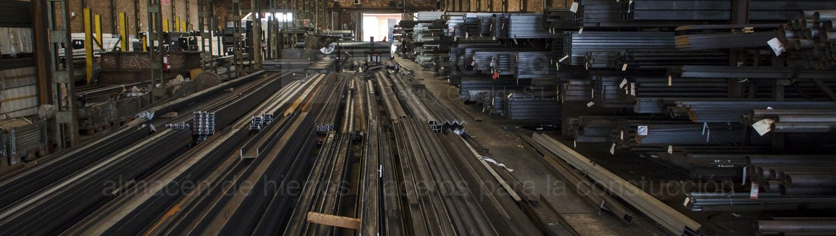 Iron and steel stock in Barcelona and Baix Llobregat