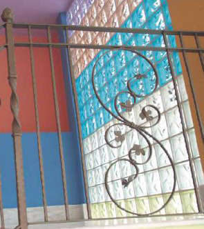 Handrails wrought iron interior