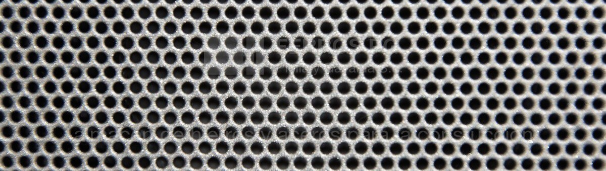 Perforated plates in iron and steel