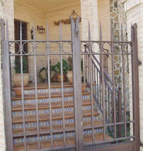 Wrought iron double doors for houses
