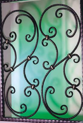 Decorative wrought iron windows and windows